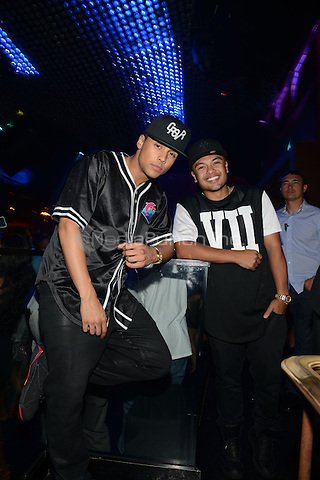 LAS VEGAS, NV - May 25: Sean Combs' sons at Body English nightclub at the Hard Rock Hotel on May 25, 2014 in Las Vegas, Nevada. © RTNGDP/MediaPunch