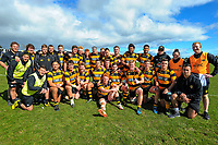 The Taranaki team poses for a group photo after the rugby match between Taranaki and Auckland Development in the Jock Hobbs Memorial Under-19 Rugby Tournament at Owen Delaney Park in Taupo, New Zealand on Wednesday, 13 September 2012. Photo: Dave Lintott / lintottphoto.co.nz