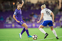 Orlando, FL - Saturday June 03, 2017: Adriana Leon during a regular season National Women's Soccer League (NWSL) match between the Orlando Pride and the Boston Breakers at Orlando City Stadium.