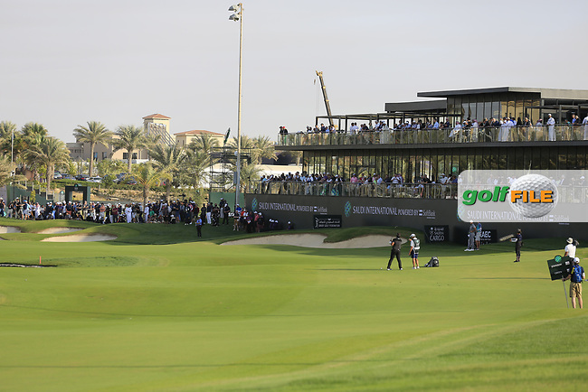 Gavin Green (MAL) playing into 18th green during the final round of  the Saudi International powered by Softbank Investment Advisers, Royal Greens G&CC, King Abdullah Economic City,  Saudi Arabia. 02/02/2020<br /> Picture: Golffile | Fran Caffrey<br /> <br /> <br /> All photo usage must carry mandatory copyright credit (© Golffile | Fran Caffrey)