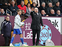 Burnley manager Sean Dyche shouts instructions to his team from the technical area<br /> <br /> Photographer Rich Linley/CameraSport<br /> <br /> The Premier League - Saturday 13th April 2019 - Burnley v Cardiff City - Turf Moor - Burnley<br /> <br /> World Copyright © 2019 CameraSport. All rights reserved. 43 Linden Ave. Countesthorpe. Leicester. England. LE8 5PG - Tel: +44 (0) 116 277 4147 - admin@camerasport.com - www.camerasport.com