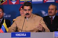 CAR402. CARACAS (VENEZUELA), 08/08/2017.- Fotografía cedida por la Oficina de Prensa del Palacio de Miraflores, del presidente de Venezuela, Nicolás Maduro Moros, mientras habla en una reunión de cancilleres del ALBA este martes 8 de agosto de 2017, en Caracas (Venezuela). Los países de la Alianza Bolivariana para los Pueblos de Nuestra América (ALBA) cerraron hoy filas con el presidente venezolano Nicolás Maduro, al rechazar las sanciones internacionales contra la Asamblea Nacional Constituyente (ANC) instaurada por el chavismo y mostrar su respaldo a este órgano plenipotenciario. EFE/PRENSA MIRAFLORES/SOLO USO EDITORIAL/NO VENTAS
