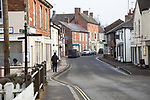 Main shopping street in centre of large village of Pewsey, Wiltshire, England, UK