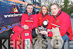 Kerry Mountain Rescue Team members Lorcan McDonnell, Margaret O'Driscoll and Damien Courtney who are asking walkers to take care on the Kerry hills over the festive season.