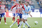 Atletico de Madrid's Fernando Torres (l) and Malaga CF's Raul Arbentosa during La Liga match. April 23,2016. (ALTERPHOTOS/Acero)