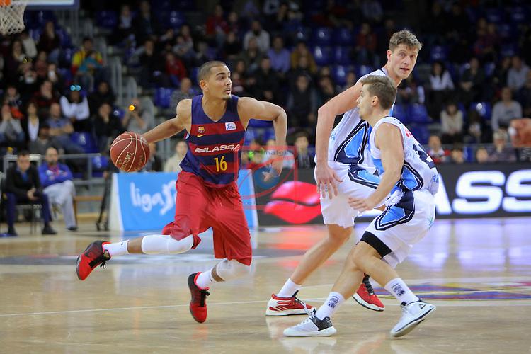 League ACB-ENDESA 2016/2017 - Game: 16.<br /> FC Barcelona Lassa vs Rio Natura Monbus Obradoiro: 100-76.<br /> Stefan Peno, Artem Pustovyi &amp; Fran Cardenas.