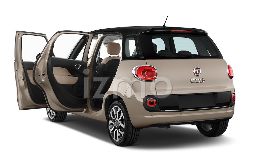 Car images close up view of a 2014 Fiat 500L Lounge 5 Door MPV doors