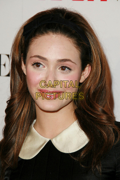 EMMY ROSSUM.Teen Vogue Young Hollywood Issue Party held at Sunset Tower Hotel, West Hollywood, California, USA..September 20th, 2006.Ref: ADM/CH.headshot portrait headband alice band.www.capitalpictures.com.sales@capitalpictures.com.©AdMedia/Capital Pictures.