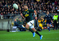 South Africa's Willie le Roux during the Rugby Championship rugby union match between the New Zealand All Blacks and South Africa Springboks at Westpac Stadium in Wellington, New Zealand on Saturday, 27 July 2019. Photo: Dave Lintott / lintottphoto.co.nz
