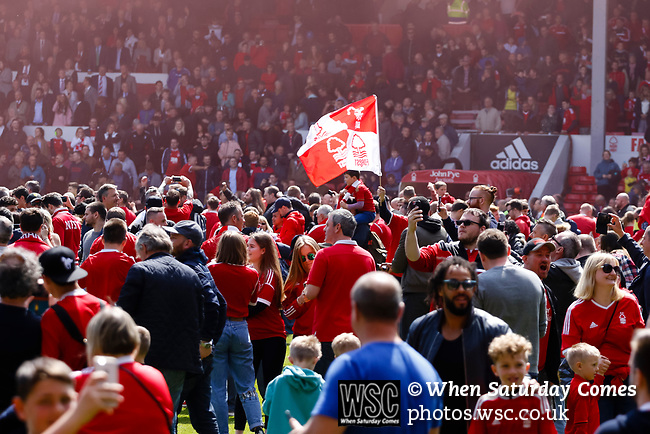 Nottingham Forest 3 Ipswich Town 0, 07/05/2017. City Ground, Championship. Forest fans invade the pitch at full time, Nottingham Forest v Ipswich Town at the City Ground Nottingham in the SkyBet Championship. Photo by Paul Thompson.