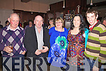 Lending their support at the Ballinskelligs Benefit Fire Dance at the Ring of Kerry Hotel in Cahersiveen on Saturday night last were l-r; Michael Fogarty, Dessy Cronin, Noreen Doyle, Mary Golden & Tom Kennedy.