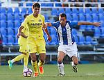 Villarreal's Rodrigo Hernandez and Leganes's Alberto Martin during the XXXVII trophy of Legane's City between CD Leganes and Villarreal CF at Butarque Stadium. August 13, 2016. (ALTERPHOTOS/Rodrigo Jimenez)