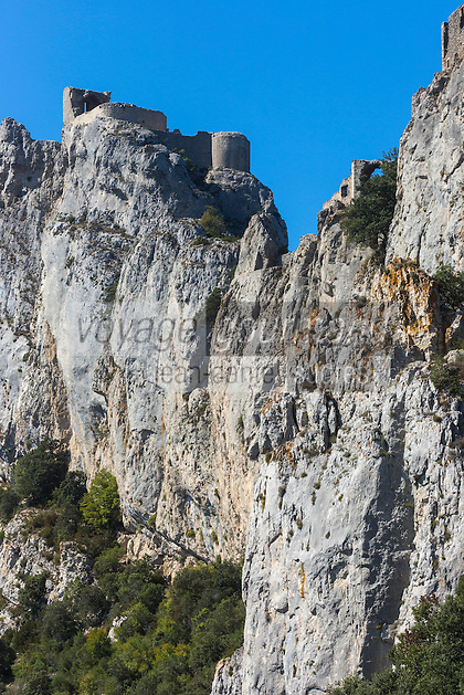 France, Aude (11), Duilhac-sous-Peyrepertuse, Château de Peyrepertuse //France, Aude, Duilhac sous Peyrepertuse,  Peyrepertuse  Cathar castle