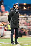 Coach Victor Sanchez del Amo of Real Betis Balompie gives instruction during their La Liga 2016-17 match between Atletico de Madrid vs Real Betis Balompie at the Vicente Calderon Stadium on 14 January 2017 in Madrid, Spain. Photo by Diego Gonzalez Souto / Power Sport Images