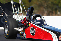 Mar 17, 2017; Gainesville , FL, USA; NHRA top alcohol dragster driver Jared Dreher during qualifying for the Gatornationals at Gainesville Raceway. Mandatory Credit: Mark J. Rebilas-USA TODAY Sports