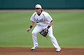 South Florida Bulls second baseman Nik Alfonso (8) during a game against the Florida State Seminoles on March 5, 2014 at Red McEwen Field in Tampa, Florida.  Florida State defeated South Florida 4-1.  (Copyright Mike Janes Photography)