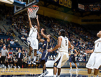 Allen Crabbe of California dunks the ball during the game against George Washington at Haas Pavilion in Berkeley, California on November 13th, 2011.  California defeated George Washington, 81-54.