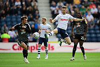 Preston North End's Paul Gallagher vies for possession with Reading's John Swift<br /> <br /> Photographer Chris Vaughan/CameraSport<br /> <br /> The EFL Sky Bet Championship - Preston North End v Reading - Saturday 15th September 2018 - Deepdale - Preston<br /> <br /> World Copyright &copy; 2018 CameraSport. All rights reserved. 43 Linden Ave. Countesthorpe. Leicester. England. LE8 5PG - Tel: +44 (0) 116 277 4147 - admin@camerasport.com - www.camerasport.com