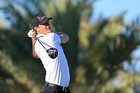 Sebastian Heisele (GER) on the 14th tee during the 2nd round of the Abu Dhabi HSBC Championship, Abu Dhabi Golf Club, Abu Dhabi,  United Arab Emirates. 17/01/2020<br /> Picture: Fran Caffrey   Golffile<br /> <br /> <br /> All photo usage must carry mandatory copyright credit (© Golffile   Fran Caffrey)