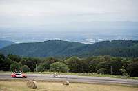 Last man (alone) in the race Nicolas Edet (FRA/Cofidis) is more than 5 minutes behind on his closest competitor ahead in the descent of the Grand Ballon<br /> <br /> Stage 6: Mulhouse to La Planche des Belles Filles (157km)<br /> 106th Tour de France 2019 (2.UWT)<br /> <br /> ©kramon