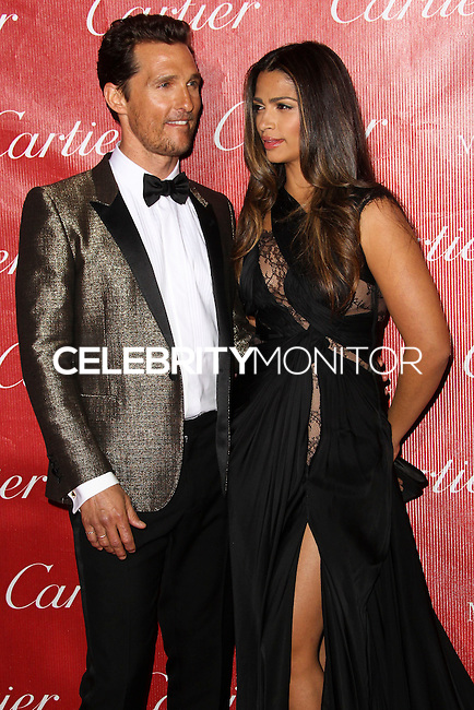PALM SPRINGS, CA - JANUARY 04: Actor Matthew McConaughey and Model Camila Alves arrive at the 25th Annual Palm Springs International Film Festival Awards Gala held at Palm Springs Convention Center on January 4, 2014 in Palm Springs, California. (Photo by Xavier Collin/Celebrity Monitor)