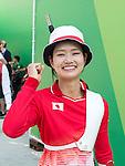 Kaori Kawanaka (JPN),<br /> AUGUST 9, 2016 - Archery :<br /> Kaori Kawanaka of Japan celebrates after winning the Women's Individual 1/32 Eliminations at Sambodromo during the Rio 2016 Olympic Games in Rio de Janeiro, Brazil. (Photo by Enrico Calderoni/AFLO SPORT)
