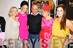Kerry O'Connor, Kerrys Boutique, Killarney, second from right, pictured with Tara Cronin, Norma O'Donoghue, Paul Treyvaud and Olivia Buckley at that launch of her new exclusive designer collections while also celebrating her first successful year in business in the boutique on Friday night. ..........................................................