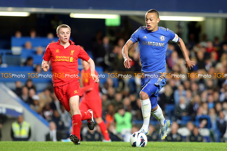 Chelsea Captain, Lewis Baker, in action - Chelsea Youth vs Liverpool Youth - FA Youth Cup Semi-Final 2nd Leg Football at Stamford Bridge, London - 19/04/13 - MANDATORY CREDIT: Paul Dennis/TGSPHOTO - Self billing applies where appropriate - 0845 094 6026 - contact@tgsphoto.co.uk - NO UNPAID USE.