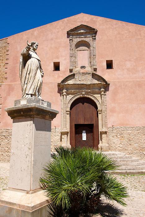 Church of San Martimo, Érice, Erice, Sicily stock photos.