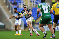 Henry Thomas of Bath Rugby looks to claim the ball. Aviva Premiership match, between London Irish and Bath Rugby on November 7, 2015 at the Madejski Stadium in Reading, England. Photo by: Patrick Khachfe / Onside Images