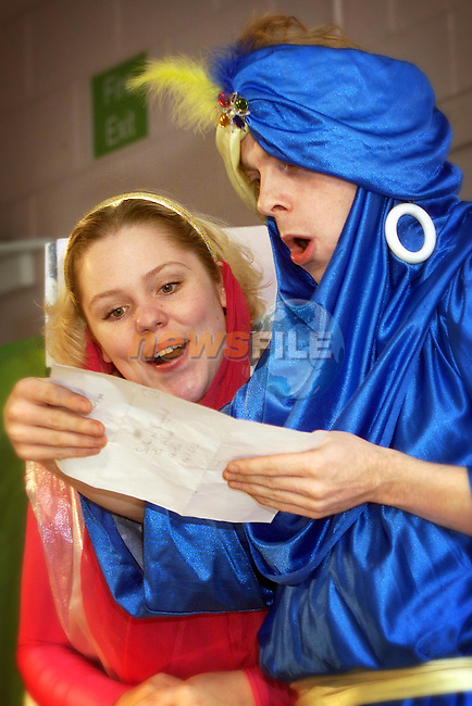 The West Midlands Theatre company's production of Arabian Nights in St John's primary school in Rathmullen..Pic Newsfile