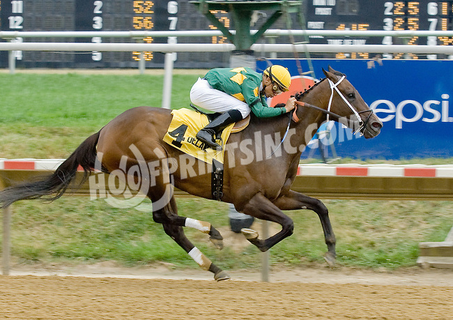 Dust and Diamonds winning The Dashing Beauty Stakes at Delaware Park on 7/21/12