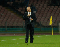 Rafael Benitez during the Italian Serie A soccer match between   SSC Napoli and Atalanta  at San Paolo  Stadium in Naples ,March 22 , 2015<br /> <br /> <br /> incontro di calcio di Serie A   Napoli -Atalanta allo  Stadio San Paolo  di Napoli , 22  Marzo 2015