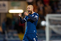 10th March 2020; Dens Park, Dundee, Scotland; Scottish Championship Football, Dundee FC versus Ayr United; Jordon Forster of Dundee celebrates at the end of the match after their 0-2 win
