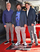 LOS ANGELES, CA. September 18, 2018: Jack Black with Mike White & Richard Linklater at the Hollywood Walk of Fame Star Ceremony honoring actor Jack Black.