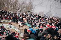Wout van Aert (BEL/Crelan-Charles) &amp; Laurens Sweeck (BEL/Era-Circus) battling it out<br /> <br /> Elite Men's Race<br /> Belgian National CX Championships / Koksijde 2018