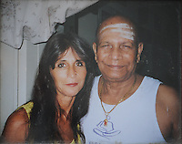 COURTESY PHOTO<br /> Louise Ellis, an Ashtanga yoga teacher who lives in India, and Fayetteville, poses with guru Sri K Pattabhi Jois in this undated photograph.