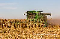 63801-08014 Corn Harvest John Deere combine Marion Co. IL