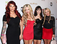 HOLLYWOOD, LOS ANGELES, CA, USA - AUGUST 12: Tera Patrick, Mindy Robinson, Annemarie Pazmino, Bree Olson at the Los Angeles Premiere Of Screen Media Films' 'Live Nude Girls' held at Avalon on August 12, 2014 in Hollywood, Los Angeles, California, United States. (Photo by Xavier Collin/Celebrity Monitor)