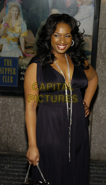 JENNIFER HUDSON.New York Film Critics Circle 72nd Annual Awards Dinner at The SupperClub, New York, New York, USA..January 7th, 2007.half length black dress necklace hand on hip .CAP/ADM/BL.©Bill Lyons/AdMedia/Capital Pictures *** Local Caption ***