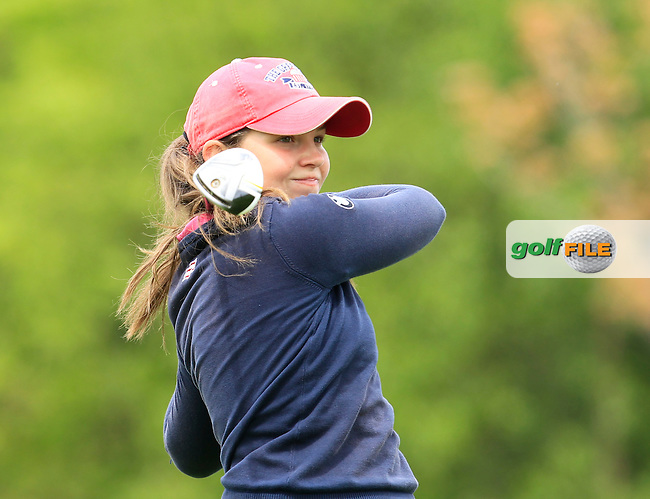 Isabella Holpfer (AUT) on the 7th tee during Round 3 of the Irish Women's Open Strokeplay Championship at Dun Laoghaire Golf Club on Sunday 24th May 2015.<br /> Picture:  Thos Caffrey / www.golffile.ie