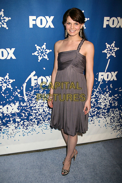 JENNIFER MORRISON.The Fox All-Star Winter 2007 TCA Press Tour Party at Villa Sorriso, Pasadena, California, USA, .20 January 2007..Full length grey one shoudler dress.CAP/ADM/BP.©Byron Purvis/AdMedia/Capital Pictures.
