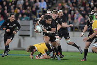 All Blacks' Julian Savea in action during the All Blacks v Wallabies. The Rugby Championship &amp; Bledisloe Cup at Westpac Stadium, Wellington, New Zealand on Saturday 27 August 2016.<br /> Photo by Masanori Udagawa. <br /> www.photowellington.photoshelter.com.