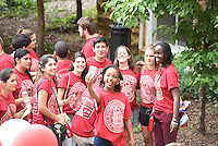 NWA Democrat-Gazette/J.T. WAMPLER Freshmen at the University of Arkansas attend a welcome party August 23, 2015.