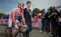 Giro d'Italia stage 13.Savano-Cervere: 121km..Joaquim Rodriguez arriving at sign-in