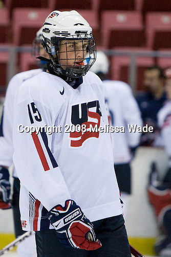 Drew Shore (US - 15) - Team USA defeated Team Finland 3-2 to win the Four Nations Cup (Under-18 boys) on Saturday, November 9, 2008 in the 1980 Rink in Lake Placid, New York.