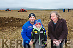 At the Abbeydorney Ploughing Match on Sunday were Russell Aslett, Cory Aslett and Donagh O'Dowd