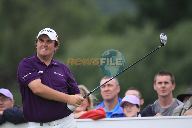 Shane Lowry teeing off on the 18th  during day two of the 3 Irish Open, at the Killarney Golf and Fishing Club, Killarney, Ireland.Picture Fran Caffrey/www.golffile.ie.