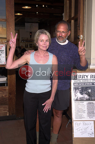 Jerry Rubin and Michelle Phillips