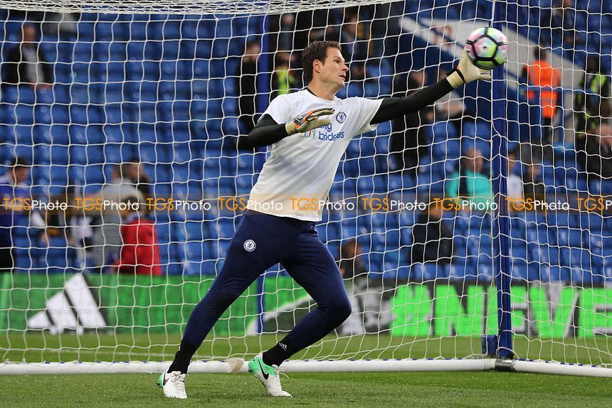 Chelsea goalkeeper, Asmir Begovic, has been selected to start the match during Chelsea vs Watford, Premier League Football at Stamford Bridge on 15th May 2017